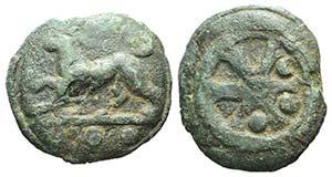 Anonymous, Rome, c. 230 BC. Cast Æ Quadrans ...
