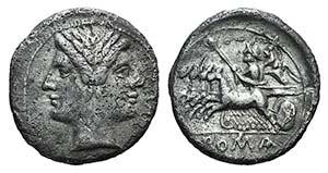 Anonymous, Rome, c. 225-212 BC. AR Drachm ...
