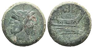 Anonymous, Rome, c. 215-212 BC. Æ As (38mm, ...