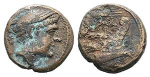 Grain ear series, Sicily, c. 214 BC. Æ ...