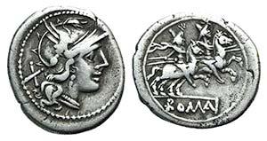 Anonymous, Rome, 211-208 BC. AR Denarius ...