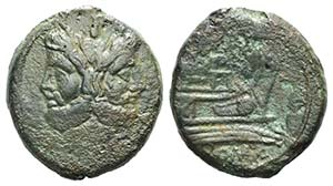 Anonymous, Rome, after 211 BC. Æ As (36mm, ...