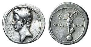 Octavian (Autumn 31-summer 30 BC). AR ...