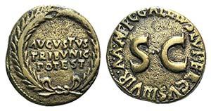 Augustus (27 BC-AD 14). Æ Dupondius (24mm, ...