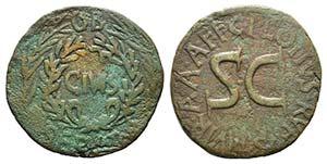 Augustus (27 BC-AD 14). Æ Sestertius (32mm, ...