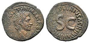 Augustus (27 BC-AD 14). Æ As (29mm, 9.33g, ...