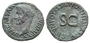Augustus (27 BC-AD 14). Æ As (29mm, 11.05g, ...