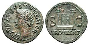 Divus Augustus (died AD 14). Æ As (31mm, ...