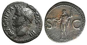 Agrippa (died 12 BC). Æ As (29mm, 10.43g, ...