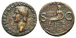 Germanicus (died AD 19). Æ As (27mm, ...