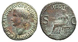 Gaius (Caligula, 37-41). Æ As (23mm, ...