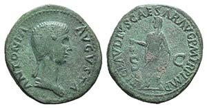 Antonia Minor (Augusta, AD 37 and 41). Æ ...