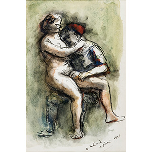 ALBERTO ZIVERI Rome, 1908 - 1990  Lovers, ...