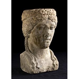 Busto femminile diademato Epoca federiciana, ...
