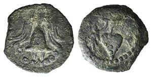Judaea, Herod Archelaus (4 BCE - 6 CE). Æ ...