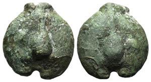 Anonymous, Rome, c. 270 BC. Cast Æ Uncia ...
