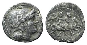 Anonymous, Rome, after 211 BC. AR Quinarius ...
