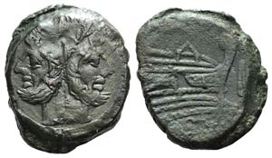Anonymous, Rome, after 211 BC. Æ As (33mm, ...