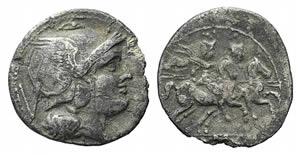 Anonymous, Rome, 211-208 BC. AR Quinarius ...