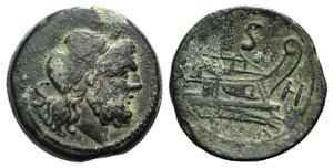 H series, Southeast Italy, 211-210 BC. Æ ...