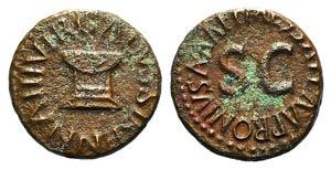 Augustus (27 BC-14 AD). Æ Quadrans (15mm, ...