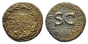 Augustus (27 BC-AD 14). Æ Dupondius (26mm, ...