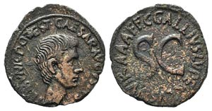 Augustus (27 BC-AD 14). Æ As (28mm, 10.82g, ...