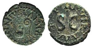 Augustus (27 BC-AD 14). Æ Quadrans (16mm, ...