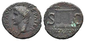 Divus Augustus (died AD 14). Æ As (29mm, ...