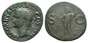 Agrippa (died 12 BC). Æ As (29mm, 7.24g, ...
