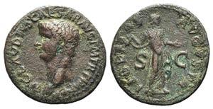 Claudius (41-54). Æ As (30mm, 10.28g, 6h). ...
