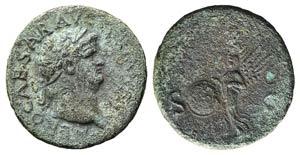 Nero (54-68). Æ As (27mm, 10.15g, 6h). ...