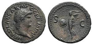 Nero (54-68). Æ As (28mm, 9.25g, 6h). Rome, ...