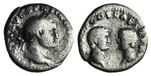 Vespasian with Titus and Domitian as ...