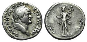 Vespasian (69-79). AR Denarius (17mm, 3.45g, ...
