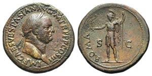 Vespasian (69-79). Æ Sestertius (35mm, ...