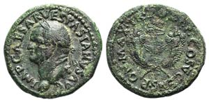 Vespasian (69-79). Æ Dupondius (28mm, ...