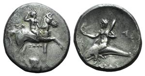 Southern Apulia, Tarentum, c. 280-272 BC. AR ...