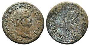 Titus (Caesar, 69-79). Æ Dupondius (27mm, ...