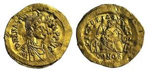 Anastasius I (491-518). AV Semissis (18mm, ...
