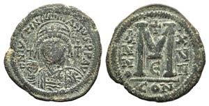 Justinian I (527-565). Æ 40 Nummi (35mm, ...