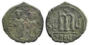 Phocas (802-810). Æ 40 Nummi (28mm, 10.75g, ...