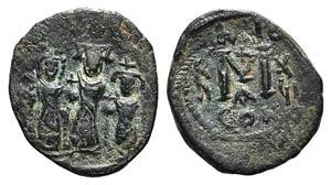 Heraclius (610-641). Æ 40 Nummi (23mm, ...