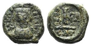 Heraclius (610-641). Æ 10 Nummi (14mm, ...