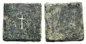 Byzantine Æ 3 Nomismata Weight, c. 5th-7th ...