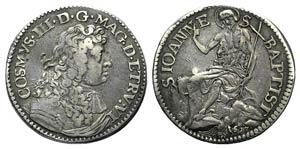 Italy, Firenze. Cosimo III (1670-1723). AR ...