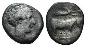 Campania, Neapolis, c. 320-300 BC. AR ...