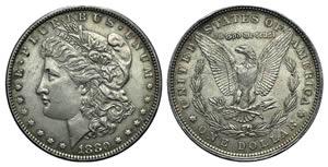 United States, AR Dollar 1880 (38mm, 26.82g, ...