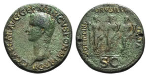 Paduan Medals. Gaius (Caligula, 37-41). Cast ...