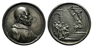 Italy, Abbot Lorenzo Citerini. Cast Æ Medal ...